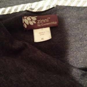 Zinni by Garnet Hill, zip front sweatshirt